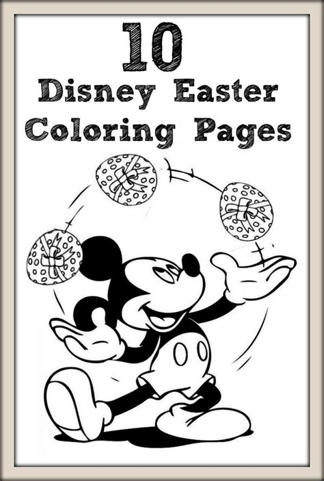 top   printable disney easter coloring pages
