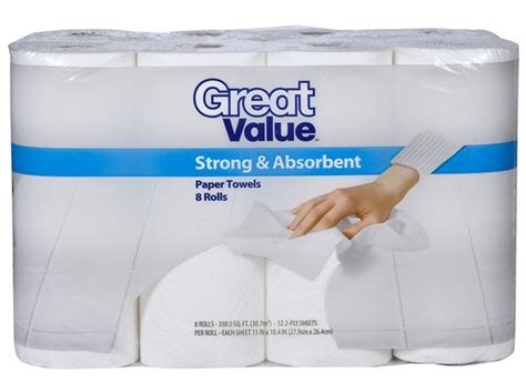 What Makes Paper Towel Absorbent - great value strong absorbent walmart paper towel