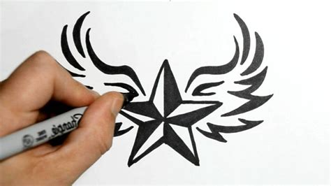 tribal star tattoos designs nautical with wings designs www imgkid the