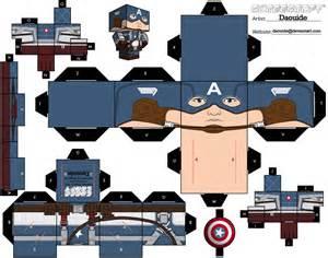 fashion action captain america paper avenger papercraft figures amp caps mask