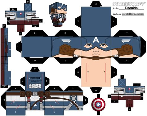 Captain America Papercraft - fashion and captain america the paper
