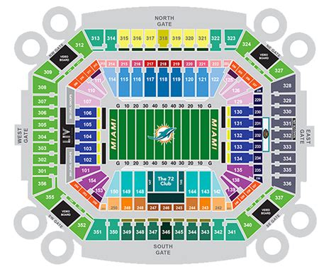 miami dolphins seat view dolphin stadium seating chart brokeasshome