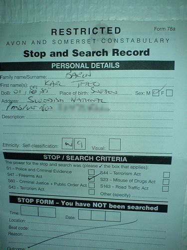 Search Warrant Uk Stop And Search Warrant Flickr Photo