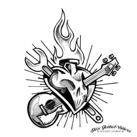 rock n roll tattoo designs rock n roll by stevegolliotvillers on deviantart