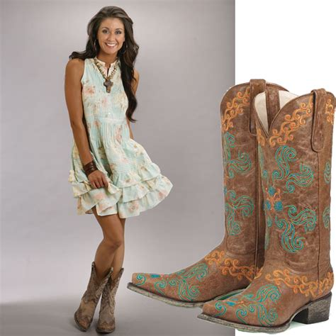 dress to wear with cowboy boots when meet cowboy boots it s catchy franscesca