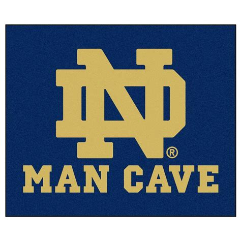 Notre Dame Area Rug Fanmats Notre Dame Blue Cave 5 Ft X 6 Ft Area Rug 14582 The Home Depot