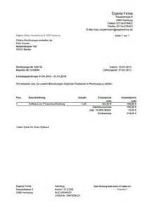 Musterrechnung Kostenlos Musterrechnung F 252 R Freiberufler Und Kleinbetrag Rechnung