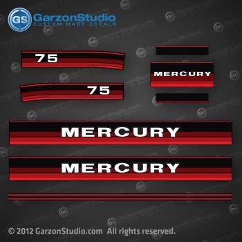 1984 1985 mercury 75 hp decal set theme