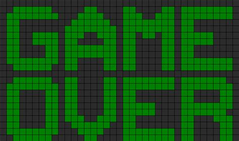 pattern over video game over perler bead pattern bead sprites misc fuse