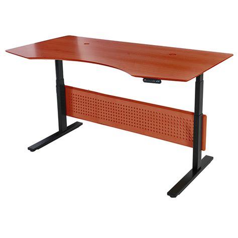 Sit Stand Adjustable Desk Sit Stand Modern 75x41 Adjustable Cherry Desk Eurway