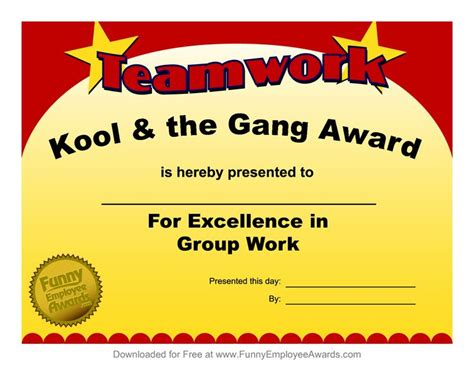 silly certificates awards templates award templatefree employee award certificate