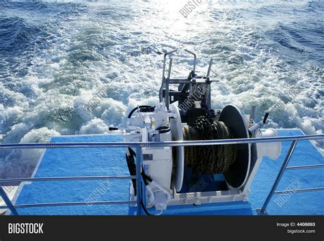 boat winch pulley boat anchor winch pulley image photo bigstock