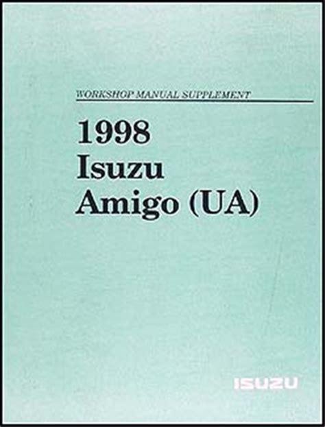 how to download repair manuals 1998 isuzu hombre space electronic throttle control 1998 isuzu amigo repair shop manual supplement original