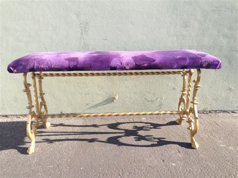 iron bed bench antique bench victorian art deco brass gold iron bed french