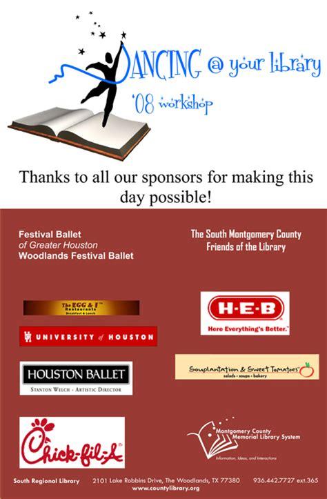 Sponsorship Banner Letter program materials tslac