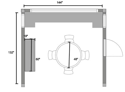 Dining Room Table Floor Plan Reader Q And A Dining Room Space Planning