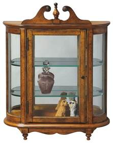 Curio Cabinet Wall Mounted Westbrook Wall Mounted Curio Cabinet Vintage Oak Finish