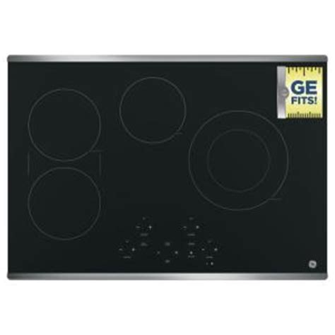 Cooktops Home Depot ge 30 in radiant electric cooktop in stainless steel with