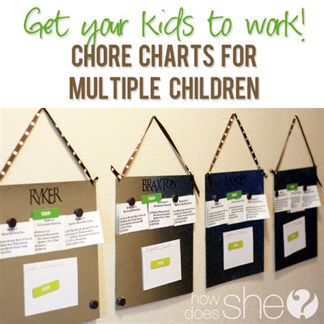 Tables Turn Quotes Chore Chart For Multiple Children