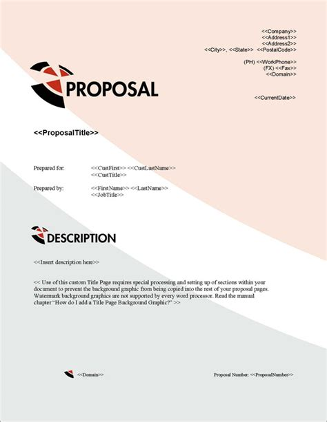 design proposal title proposal pack business 12 software templates sles