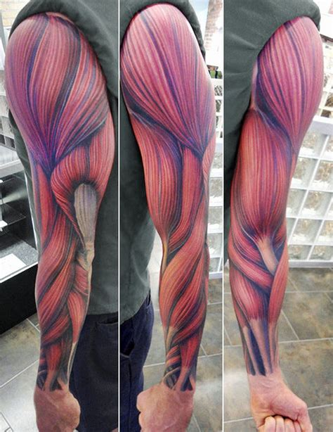 muscle tattoo designs arm inkedcollector