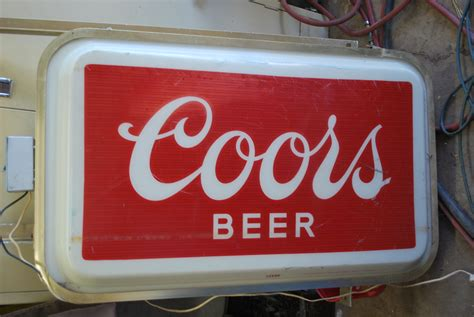 Outdoor Lighted Signs For Business Commercial Outdoor Lighted Coors Sign Collectors Weekly