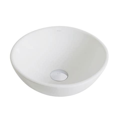 small bathroom vessel sinks kraus elavo small round ceramic vessel bathroom sink in