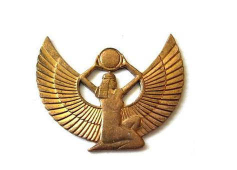 ancient egyptian goddess isis symbol vintage egypt symbol of isis copper sting 36mmx28mm