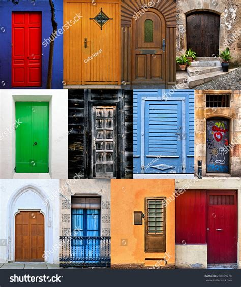 colorful doors collage stock photo image 41305174 doors collage colorful doors doors montage stock photo