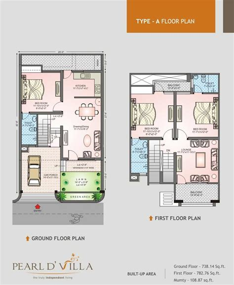 2 floor villa plan design floor plans pearld villa jagatpura jaipur
