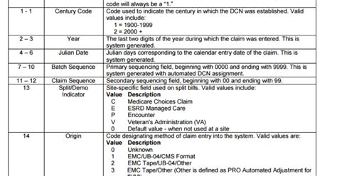 document control number dcn   read