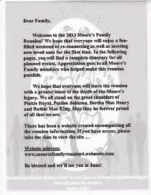 family reunion welcome letter template sle family reunion welcome letters pictures to pin on