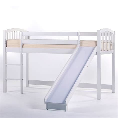 junior loft bed with slide master fub434 jpg