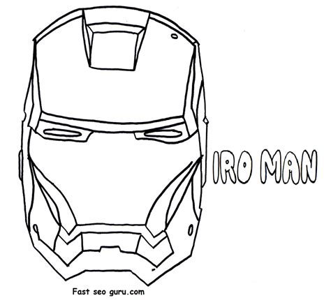 iron man helmet coloring pages quotes by man in the iron mask like success