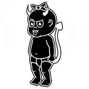 Autoaufkleber Baby Teufel by Auto Aufkleber Tribal Autoaufkleber Wandtattoo
