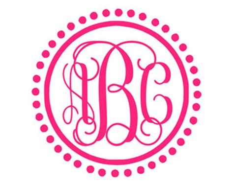 Monogrammed Wall Stickers preppy decal etsy