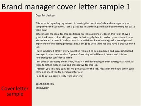 sle cover letter for product manager brand manager cover letter sle 42 images brand manager