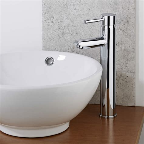bathroom basin taps uk milano mirage high rise tall mono basin mixer tap