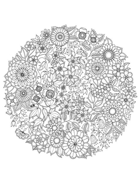 flower collage coloring page icolor quot asymmetrical quot icolor quot asymmetrical quot pinterest