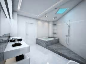 White Grey Bathroom Ideas Futuristic Black And White Apartment