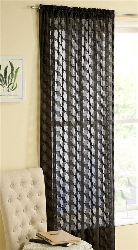 Modern Vintage Curtains Fairmont Modern Retro Lace Curtain Panel Not Voile Cut Print Effect Ebay