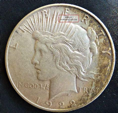 1922 liberty silver peace dollar