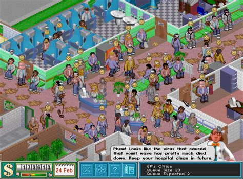 themes hospital theme hospital review rambling fox gaming reviews