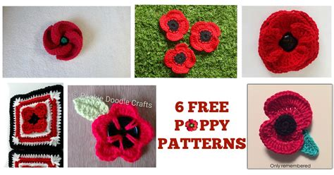 free pattern for knitted poppies 6 free poppy patterns happily hooked