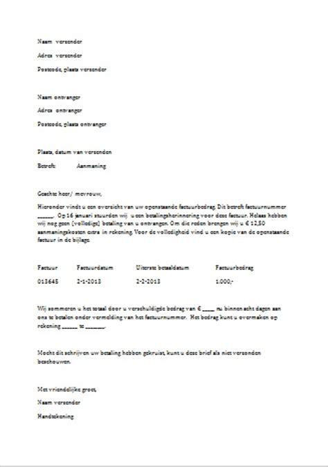 Zakelijke Briefformat Voorbeeld Een Begeleidende Brief Gratis Downloaden