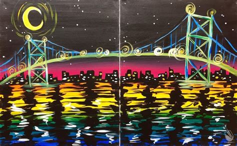 paint with a twist irving couples paint bridge colored water friday