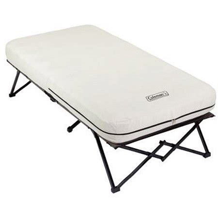 coleman framed airbed cot walmart