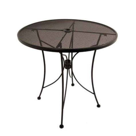Jackson Bistro Table Hton Bay Jackson 30 In Patio Bistro Table 6330000 0105157 The Home Depot