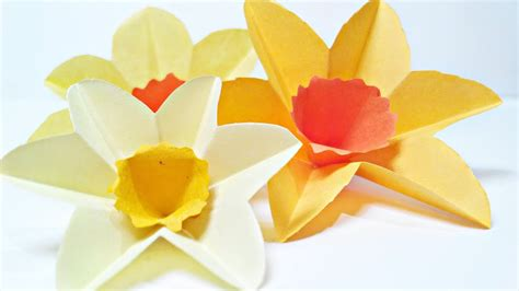 How To Make Paper Daffodils - daffodils narcissus paper flower for wall decoration arts