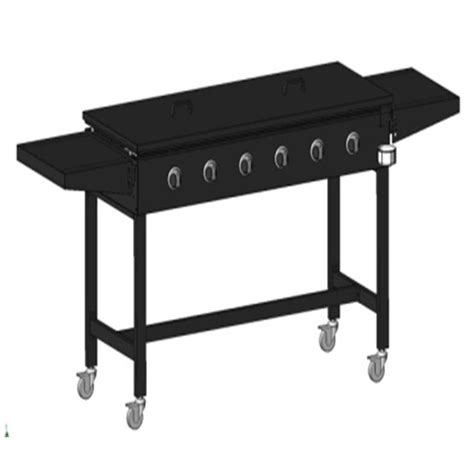 Enamel Top Cabinet by 4 Burner Stainless Steel Stardom Hooded Bbq Jumbuck